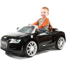 toddler motorized car audi r8 spyder 6 volt battery powered ride on toy kids boy