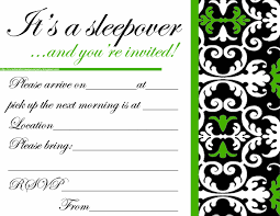 Birthday Invitation Cards For Teenagers Invitations For Sleepover Party