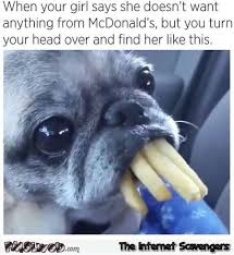 Thursday Funny Memes - when your girl steals your fries funny meme pmslweb