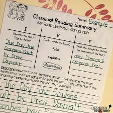 4th grade book report sample i v f summary sentences a teachable teacher