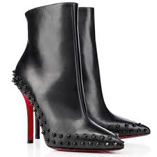 christian louboutin simple pump black 100mm leather womens high pumps