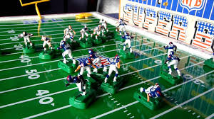 electronic table football game nfl super bowl 1986 electric football game youtube