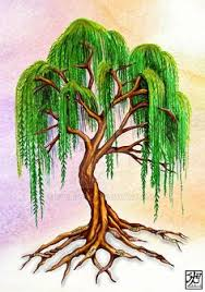 i want to paint this willow tree in the nursery and put two book