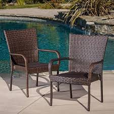 Outdoor Resin Chairs Amazon Com Best Selling Outdoor Wicker Chairs 2 Pack Outdoor