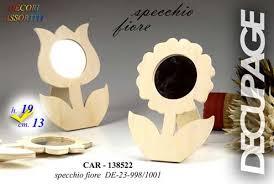 cornice legno da decorare cornice portafoto in legno per decoupage a forma di fiore