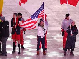 afton s diggins carries u s flag in olympic closing
