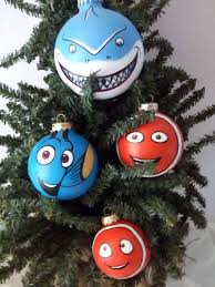 finding nemo pixar painted ornament set by