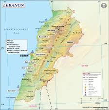 Spain On A World Map by Map Of Lebanon