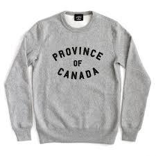 canada sweater province crewneck sweater grey unisex province of canada