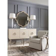 Curved Sideboard Diana Curved Silver Round Stone Side Table Kathy Kuo Home