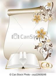 modele carte mariage vecteur eps de modèle floral livre carte mariage csp22609248