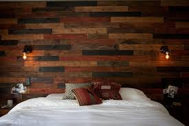 Wood Walls In Bedroom Wood Plank Wall Diy