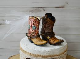 cowboy boot wedding cake topper for grooms cake western
