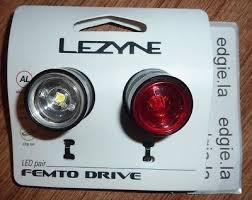 lezyne femto drive bike lights lezyne femto drive pair led front rear cycle bike light set black
