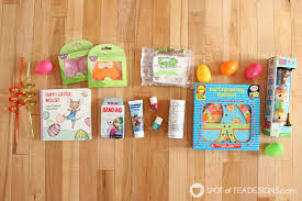 easter basket ideas for toddlers non candy toddler easter basket ideas spot of tea designs