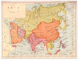 Asia Maps Asia Map Strand Album 1908 Philatelic Database