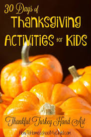 thank you list 30 days of thanksgiving activites for
