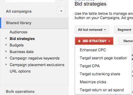 adwords bid bid strategy in adwords