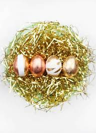 metallic easter eggs shiny gold easter eggs our favorite things