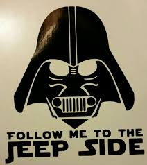 jeep life decal darth vader jeep side 5