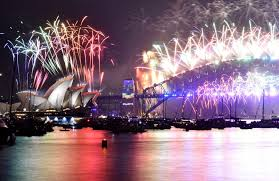 australia kicks global new year celebration with fireworks