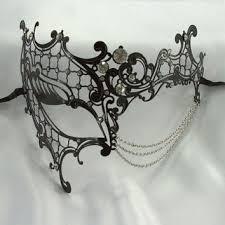 laser cut masquerade masks theatrical black phantom venetian princess metal filigree laser