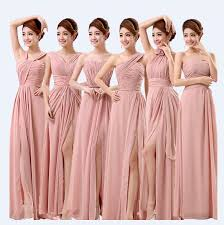 bridesmaid dress dusty pink bridesmaid dresses prom split special occasion vestidos