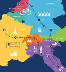 France On Europe Map by Paris In April 2017 April European Tour Packages Coach