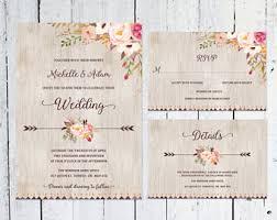 wedding invitations rsvp cards wedding invitation set modern rsvp card details card