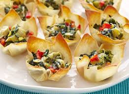 cuisine weight watchers weightwatchers warm spinach artichoke cups recipe weight