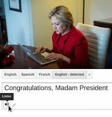 Meme Definition English - english spanish french english detected congratulations madam