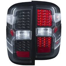 euro tail lights for chevy silverado amazon com anzousa 311215 black led tail light for chevrolet