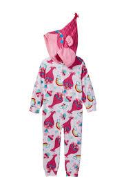 ame trolls poppy hooded fleece blanket sleeper little girls