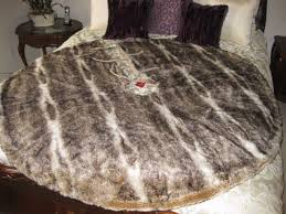 faux fur tree skirt pottery barn faux fur caramel ombre christmas tree skirt ebay