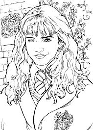 hermione granger harry potter coloring pages pinterest