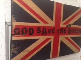 Vintage Flag Art Union Jack Art God Save The Queen Vintage British Flag On Wood