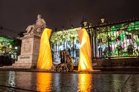 Fine Art Lighting Fixtures by Festival Of Lights Berlin Humboldt Universität Guardians Of Time
