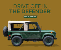 land rover defender 90 yellow barbour defender sweepstakes