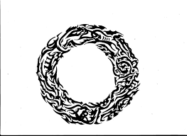 collection of 25 tribal dragons circle design