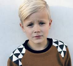 boys hair crown blended wedge style long on the top and tapered sides and back