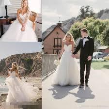 Wedding Dresses Discount Discount 2016 Beach Summer Simple Wedding Dresses Plus Size