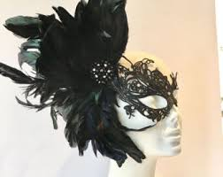 mardi gras feather masks feather mask etsy