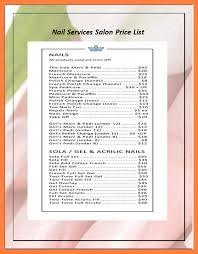 10 hair salon price list template bussines proposal 2017