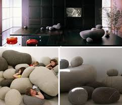 Living Stones RockShaped Cushions Come In All Sizes - Rock furniture