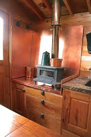 Building A Small Cabin In The Woods by Marine Wood Burning Stove In This Small Kitchen That Copper Back