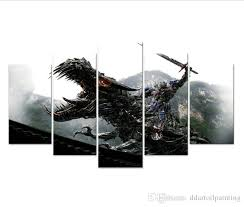 2018 large 60x32 movies poster transformers 4 paintings 5 panel