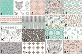 Coral Nursery Bedding Sets by Wolf Cactus Crib Bedding Nursery Bedding Baby Crib Set Teal