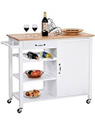 white kitchen cart island kitchen islands carts amazon com