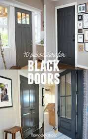 painting your interior doors black gives your home a whole new