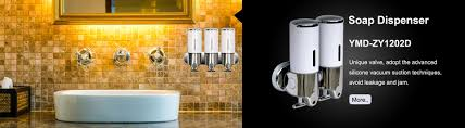 double soap dispensers for bathroom use